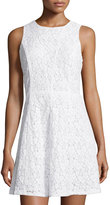 MICHAEL Michael Kors Sleeveless Lace A-Line Dress, White