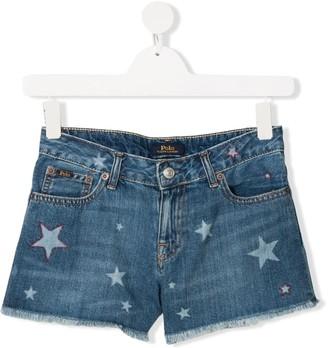 Ralph Lauren Kids TEEN star denim shorts