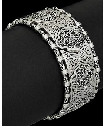 Lois Hill Classic Silver Link Toggle Bracelet