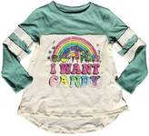 Rowdy Sprout Youth Girl's Dreamer Raglan Tee