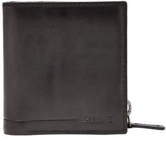 Fossil Allen Zip Bifold Wallet Black