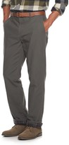 Croft & Barrow Men's Straight-Fit Flannel-Lined Canvas Chino Pants