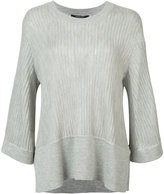 Derek Lam ribbed shift knitted blouse - women - Silk/Cashmere - S