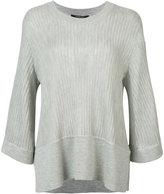 Derek Lam ribbed shift knitted blouse - women - Silk/Cashmere - XS