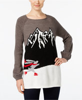 Style&Co. Style & Co. Skating Bunny Graphic Sweater, Only at Macy's