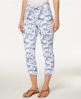 Charter Club Petite Bristol Printed Capri Jeans, Only at Macy's
