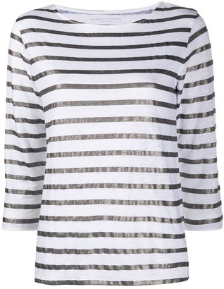 Majestic Filatures metallic striped T-shirt