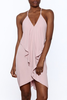 Olivaceous Soft Pink Sleeveless Dress