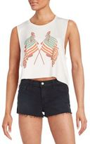 Wildfox Couture Lady Liberty Cropped Chad Tank
