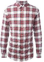 DSQUARED2 Men's White/red Cotton Shirt.
