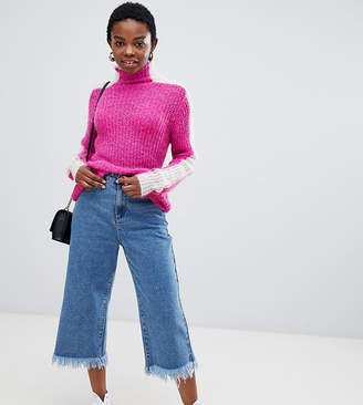 Glamorous Petite relaxed jumper with colour block sleeves-Pink
