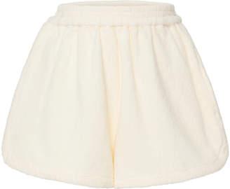 Terry Cruise Cotton Mini Shorts Size: S