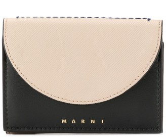 Marni curved flap wallet