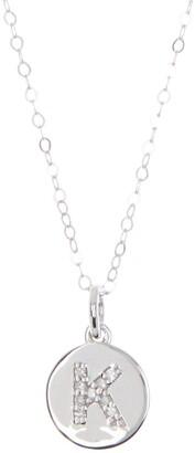 Ron Hami 14K White Gold Initial Pendant Chain Necklae