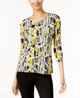 Alfani Printed Tiered Top, Only at Macy's