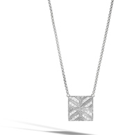 John Hardy Women's Modern Chain Necklace in Sterling Silver with Diamonds