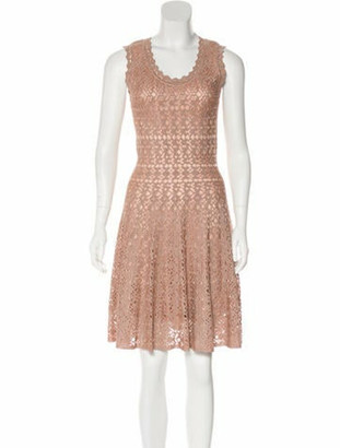 Alaia Fit and Flare Dress w/ Tags Beige