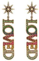 Gucci Loved pendant earrings with crystals