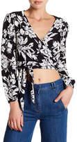 Flynn Skye Long Sleeve Wrap Crop Shirt