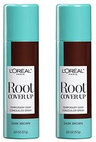 L'Oreal Hair Color Root Cover Up Hair Dye, Dark Brown, 2 Ounce (Pack of 2)