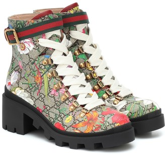 Gucci GG Flora ankle boots
