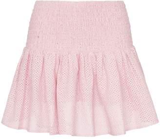 Marysia Swim Lahaina smocked waist cotton mini skirt