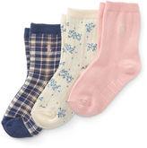 Ralph Lauren 2-6X Plaid Trouser Sock 3-Pack
