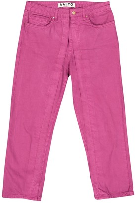 Aalto Pink Cotton Jeans for Women