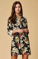 MinkPink Panama Floral Print Shirt Dress