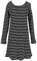 Copper Key Big Girls 7-16 Striped Long-Sleeve A-Line Dress