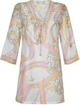 Emilio Pucci Light Blue/Pink-Multi Cotton-Silk Tunic