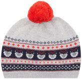 Il Gufo Fairisle Pom Hat