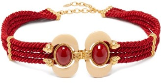 Sonia Petroff - Aries Cabochon-embellished Rope Belt - Red Multi