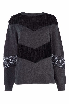 See by Chloe Lace Panelled Sweater