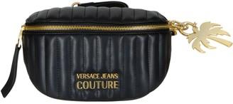 Versace Logo Plaque Quilted Belt Bag