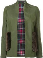 Harvey Faircloth collarless blazer