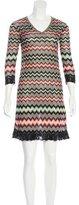Missoni Three-Quarter Sleeve Knit Dress
