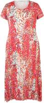 House of Fraser Chesca Plus Size Bubble Print Crush Pleat Dress