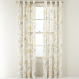Martha Stewart MarthaWindowTM Faded Floral Grommet-Top Sheer Panel