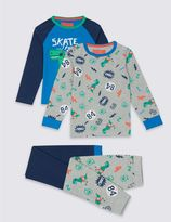 Marks and Spencer 2 Pack Long Sleeve Pyjamas (9 Months - 8 Years)