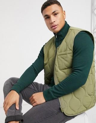 Topman vest in khaki
