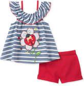 Kids Headquarters 2-Pc. Ladybug Top & Shorts Set, Little Girls