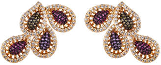 Eye Candy Los Angeles Eye Candy La Isla Multi Color Cz Crystal Stud Earrings