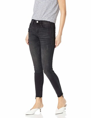 Blank NYC Women's Mid Rise Washed Black Skinny Jeans