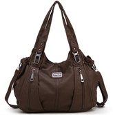 Scarleton Center Zip Shoulder Bag H147404ACA - Brown