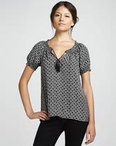 Joie Masha Star-Print Short-Sleeve Top
