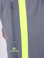Balenciaga contrasting logo tracksuit pants grey/fluo yellow