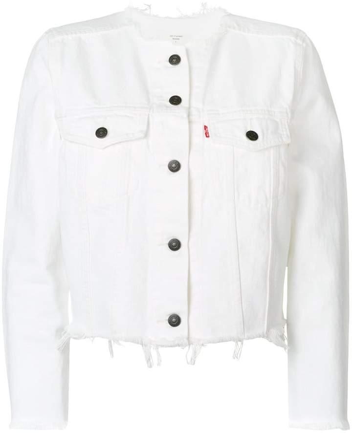 Levi's frayed denim jacket