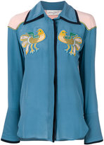 Antonia Zander shirt with bird embroidered patches