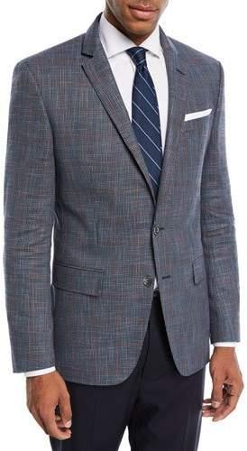 BOSS Hutson Windowpane Wool-Blend Sport Coat